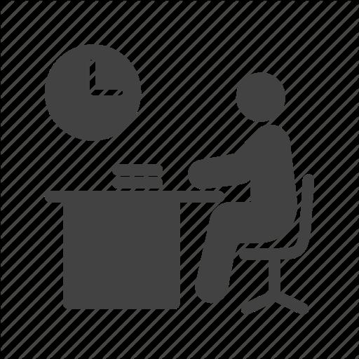 Desk Clipart Work Icon