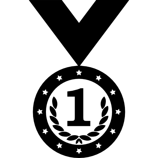 Medal Variant With Wreath And Number Symbol