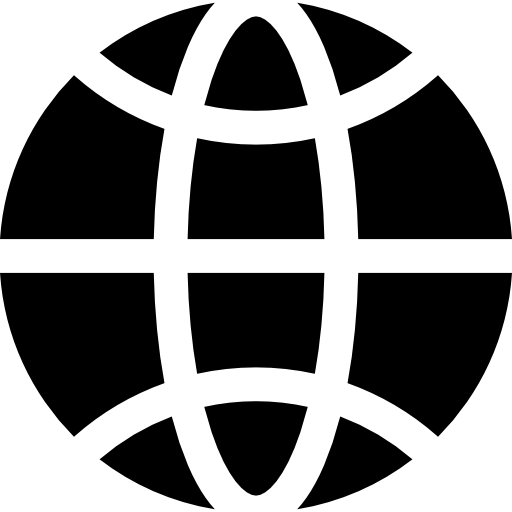 World Grid Flat Icon