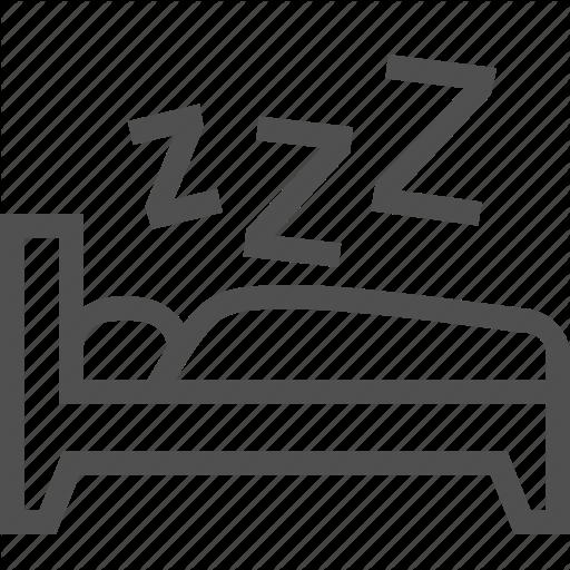 Bed, Comfort, Dream, Night, Pillow, Sleep, Zzz Icon