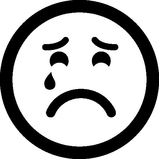 Sad Suffering Crying Emoticon Face
