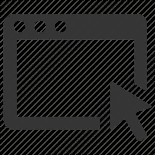 Application, Arrow, Browser, Computer, Window Icon