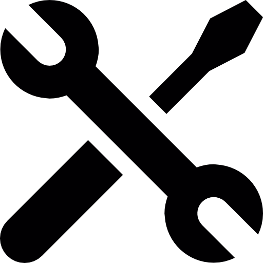 Screwdriver And Wrench Crossed