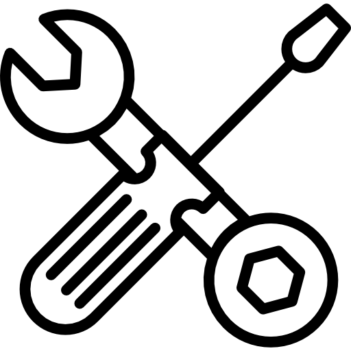 Wrench And Bolt Tool And Screwdriver Outline Icons Free Download