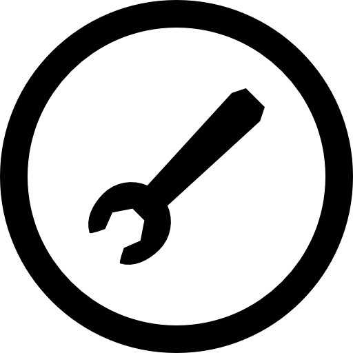 Wrench Oblique Tool In Circular Button Icons Free Download