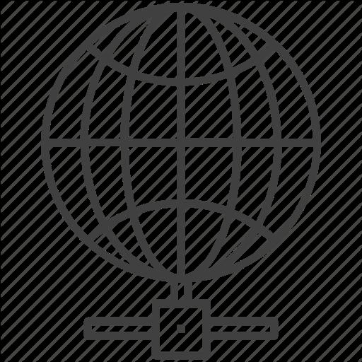 Cyberspace, Globe, Internet, World Wide Web, Icon