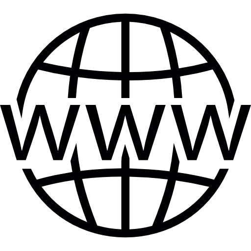 World Wide Web On Grid Icons Free Download