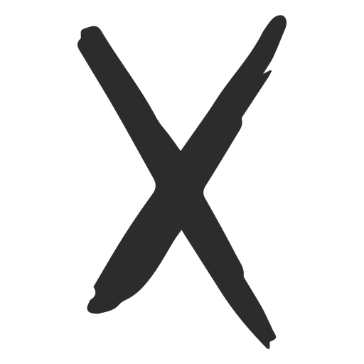 X Cross Scribble Icon