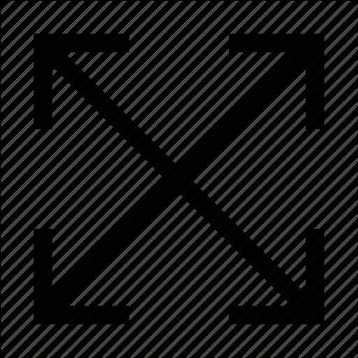 Arrow, Arrows, Minimalist, X Icon