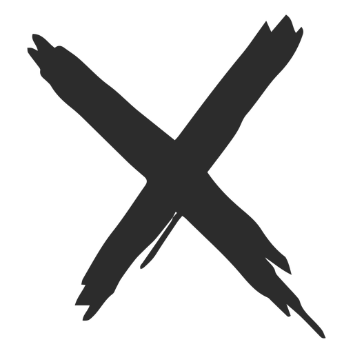 X Mark Scribble Icon