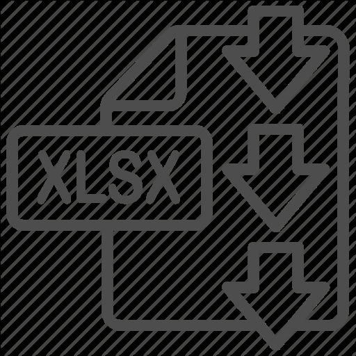 Document, Download, Excel, File, Xlsx Icon