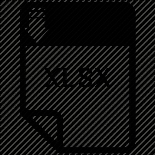 , Format, Xlsx Icon