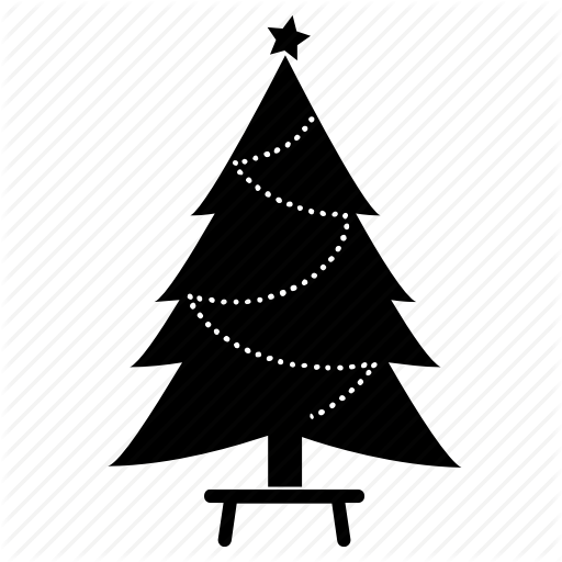 Chair, Christmas Tree, Fir, New Year, Spruce, Tree Icon