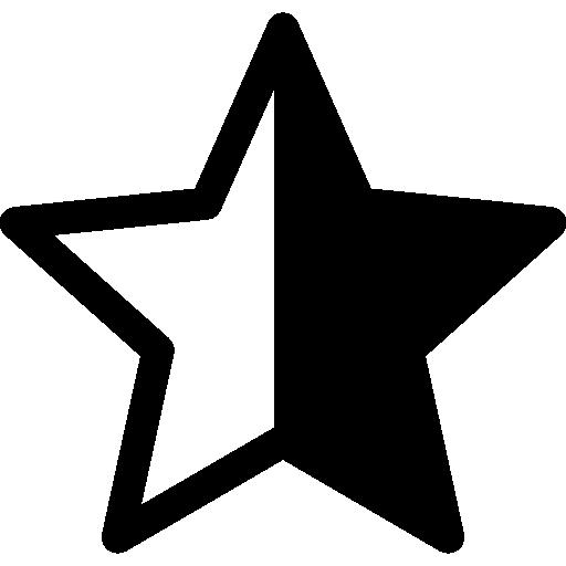 Star Half Empty Icons Free Download