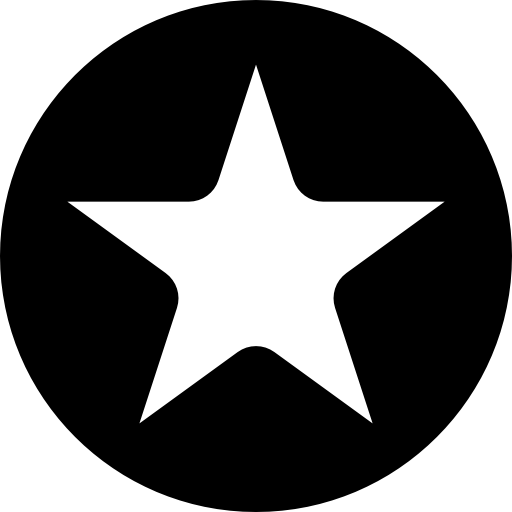 White Star Button Icons Free Download