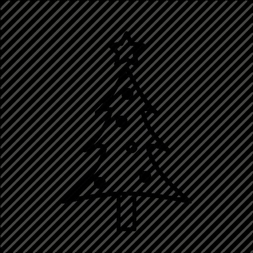 Christmas, Christmastree, Decoration, Holidays, Small, Star Icon