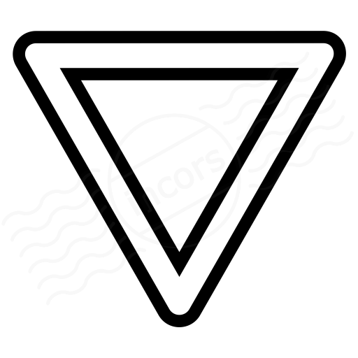 Iconexperience I Collection Sign Yield Icon