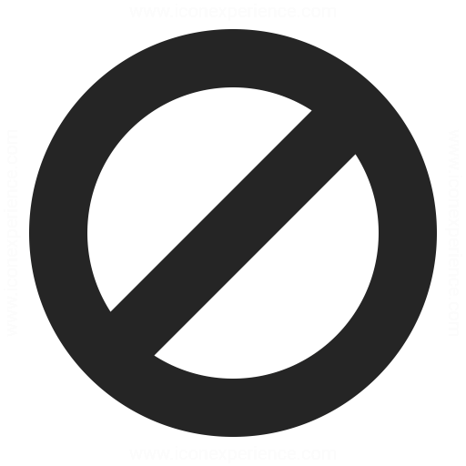 Sign Forbidden Icon Iconexperience