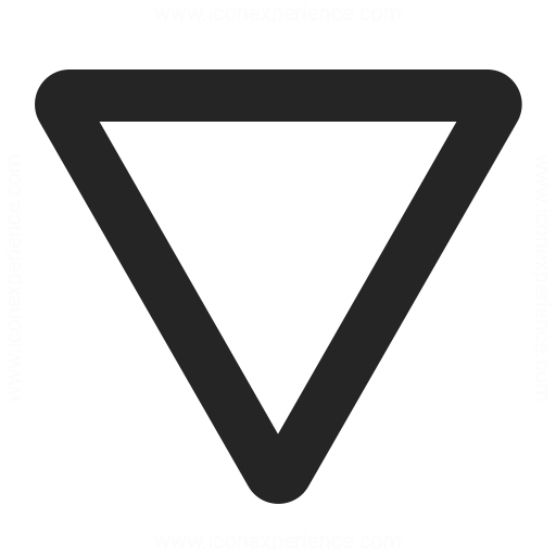 Sign Yield Icon Iconexperience