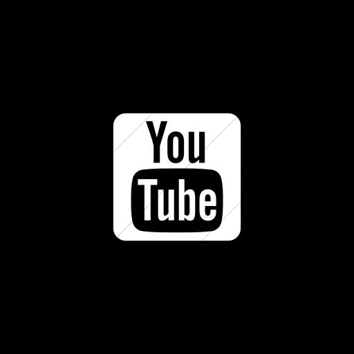 Flat Circle White On Black Foundation Social Youtube Icon