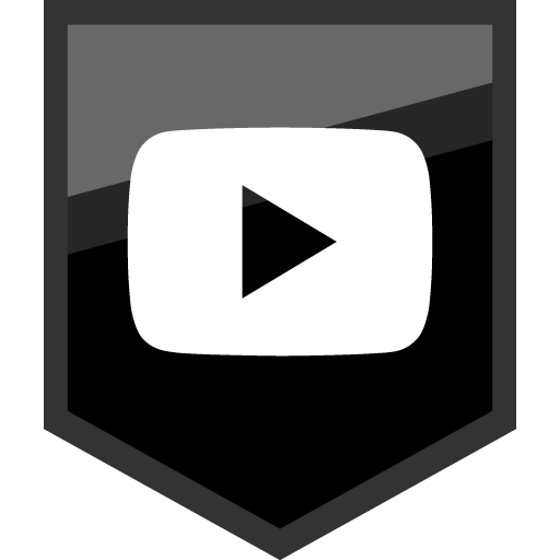 Youtube Play Button Free Black Shield Social Media Icon