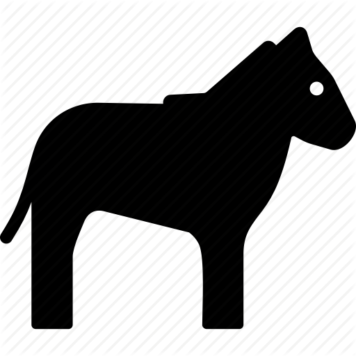 African, Animal, Horse, Striped, Zebra Icon