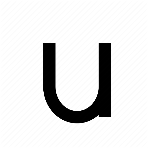 Letter, Lowercase, Text, Type, Typography, U Icon