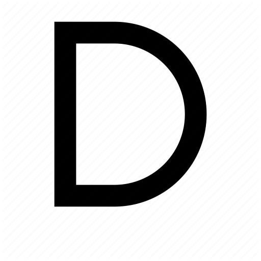 Capital, D, Letter, Text, Type, Typography, Uppercase Icon