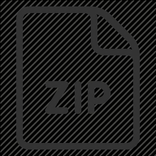 , Format, Zip, Zipped Icon