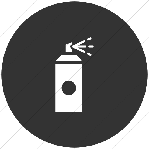 Flat Circle White On Dark Gray Iconathon Graffiti Zone Icon