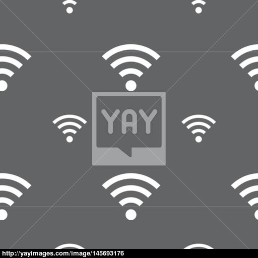 Wifi Sign Wi Fi Symbol Wireless Network Icon Zone Seamless