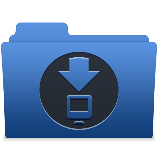 Smooth Navy Blue Downloads Icon Free Search Download As Png