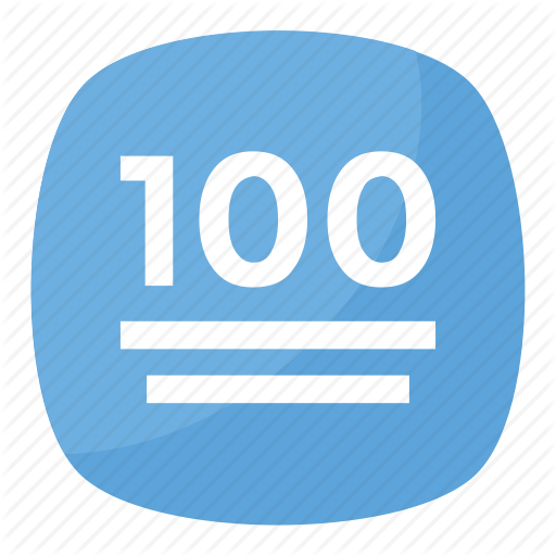 Points Symbol, Hundred Emoji, Hundred Points Symbol