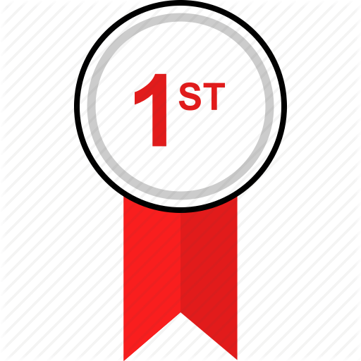 Awarded, First, Place Icon