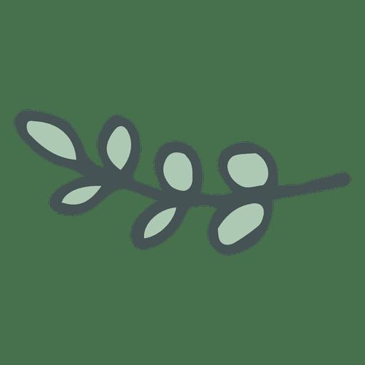 Olive Branch Hand Drawn Cartoon Icon
