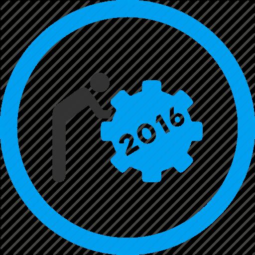 Employee, Job, Service, Staff, Task, Working Man, Year Icon