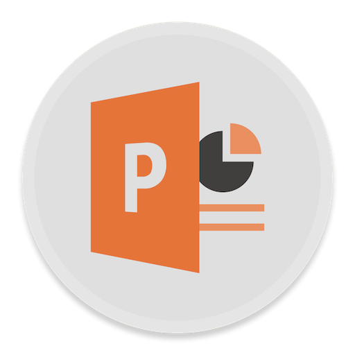 Powerpoint Icon Button Ui Ms Office Iconset Blackvariant