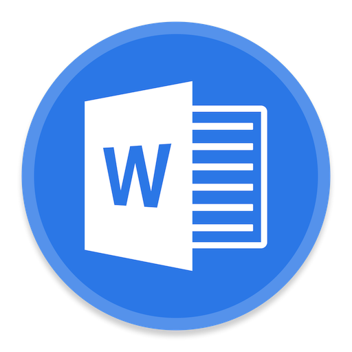 Word Icon Button Ui Ms Office Iconset Blackvariant