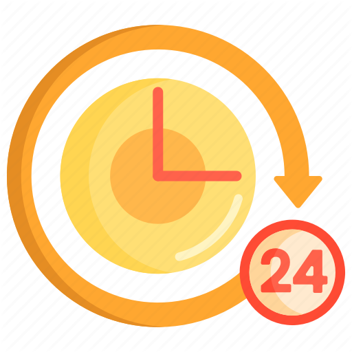 Hours, Around The Clock, Clock, Hours, Time Icon