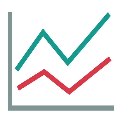 Line Chart, Up Arrow, Graphic Icon Png And Vector For Free