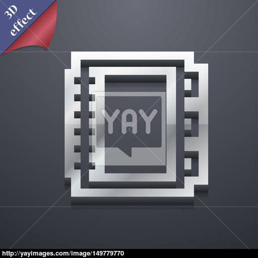Book Icon Symbol Style Trendy, Modern Design With Space