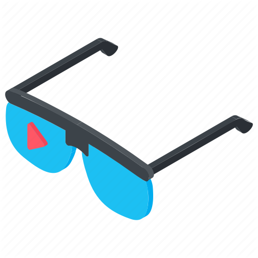 Glasses, Goggles, Monitoring, Eyewear, Virtual Reality Icon
