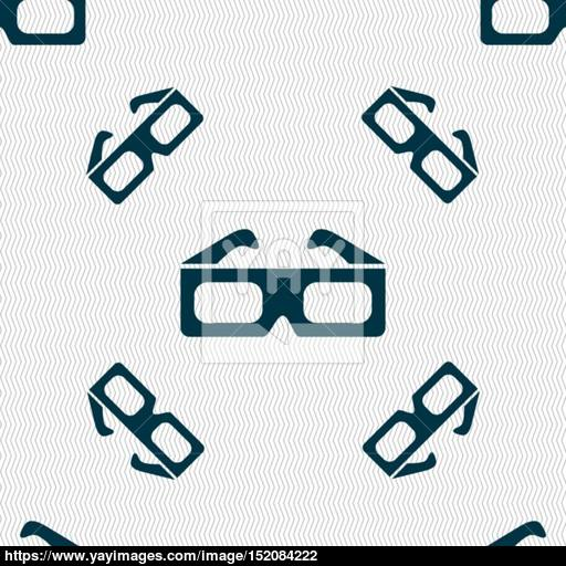 Glasses Icon Sign Seamless Pattern With Geometric Texture
