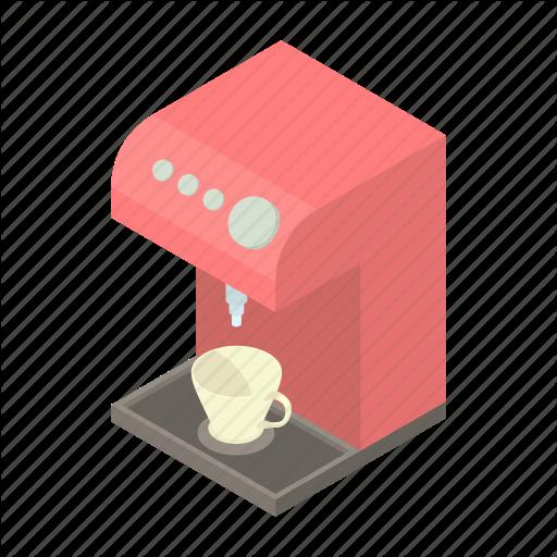 Beverage, Caffeine, Cartoon, Coffee, Machine, Maker, Modern Icon