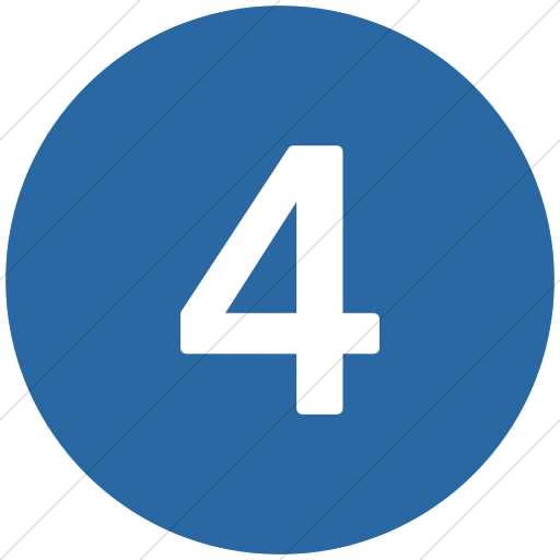 Flat Circle White On Blue Alphanumerics Number Icon