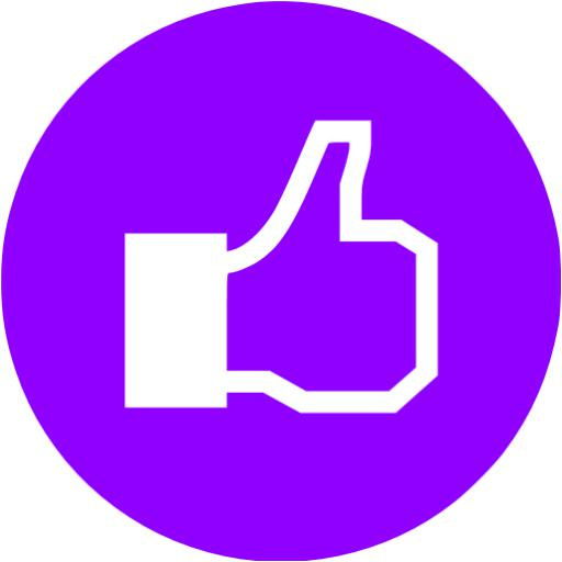 Violet Facebook Like Icon