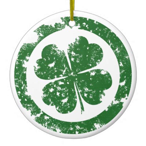 Circled Leaf Clover Circle Ornament Gabriel Angel Design T