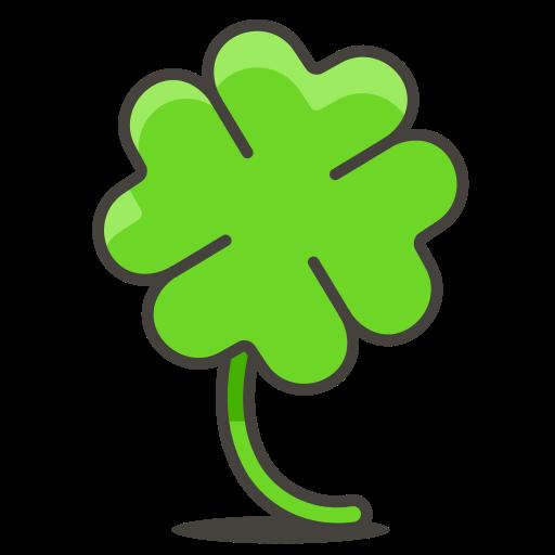 Four, Leaf, Clover Icon Free Of Free Vector Emoji