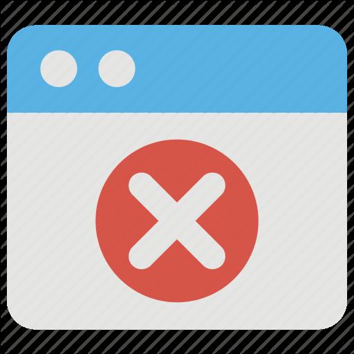 Blocked Website, Error Internet Error, User Blocked, Web