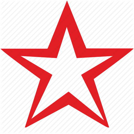 Red Star Icon Png Png Image